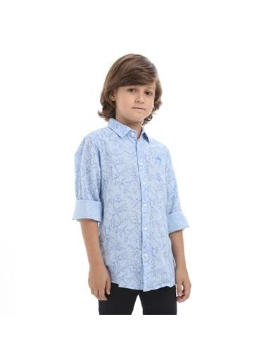 Robe di Kappa Rdk Çocuk Gömlek Barn  Mavi